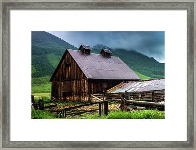 A Barn In Crested Butte Framed Print by John De Bord