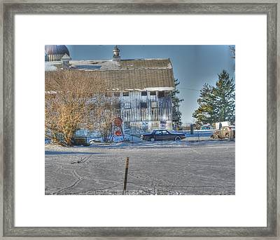 A Barn In Time Framed Print by David Bearden