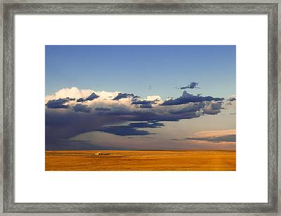 Framed Print featuring the photograph A Barn On The Prairie by Monte Stevens