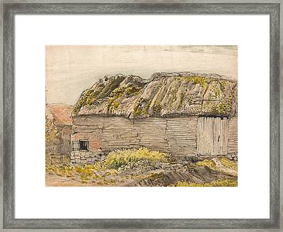 A Barn With A Mossy Roof, Shoreham Framed Print by Samuel Palmer