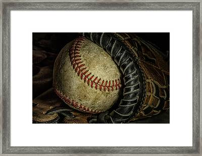 A Baseball Still Life Framed Print