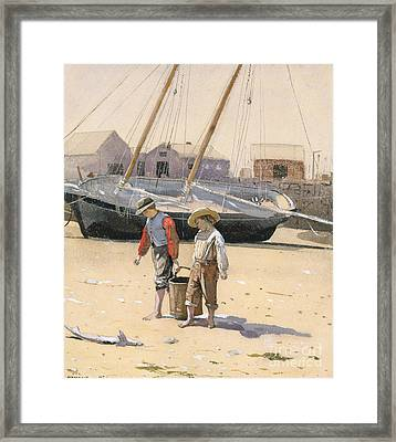 A Basket Of Clams, 1873 Framed Print by Winslow Homer