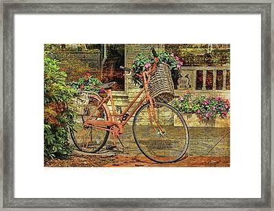 A Basketful Of Spring Framed Print