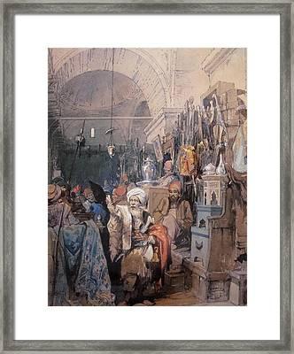 A Bazaar Framed Print