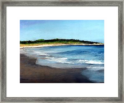 A Beach In Smithfield Framed Print by Cindy Plutnicki