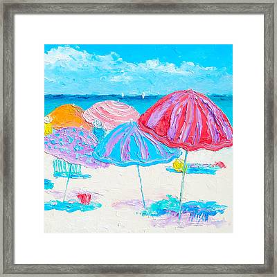 A Beach Scene Framed Print