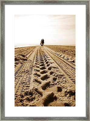 A Beach Stroll Framed Print
