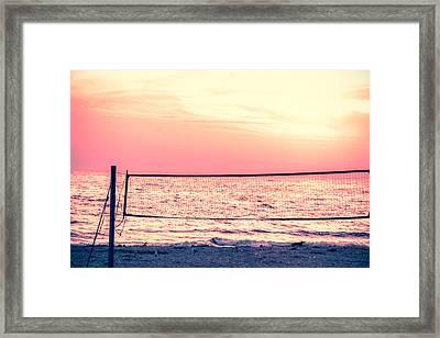 A Beach Volleyball Net  Framed Print by Art Spectrum