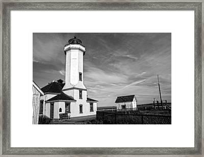A Beacon Of Light - Bw Framed Print by Kerry Langel