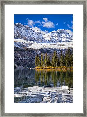 A Beautiful Autumn Day At Boom Lake Framed Print by Tomas Nevesely