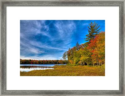 A Beautiful Autumn Day On West Lake Framed Print