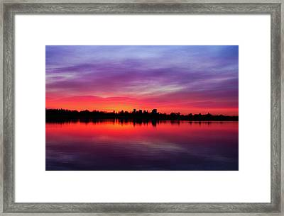 Sunrise At Sloan's Lake Framed Print