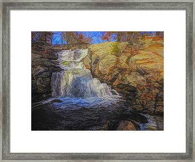 A Beautiful Connecticut Waterfall. Framed Print