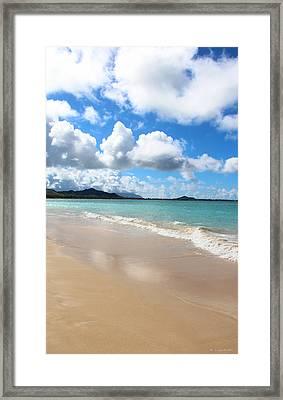 A Beautiful Day At Kailua Beach Hawaii Framed Print by Kerri Ligatich
