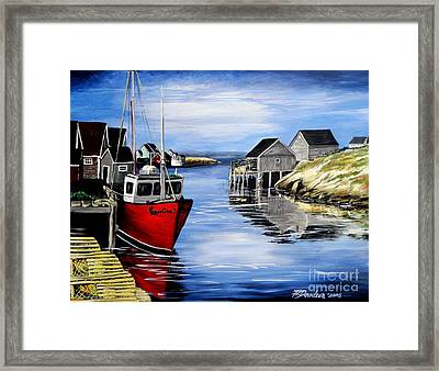 A Beautiful Day At Peggy's Cove  Framed Print