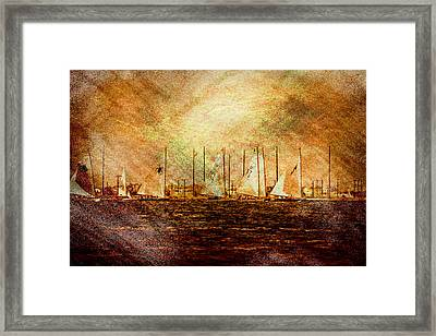 A Beautiful Day For A Sail Boat Race  Framed Print by Geraldine Scull