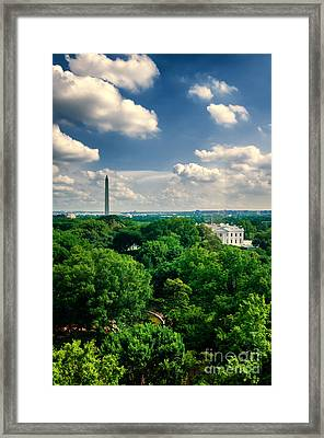 A Beautiful Day In Dc Framed Print by Jim Moore