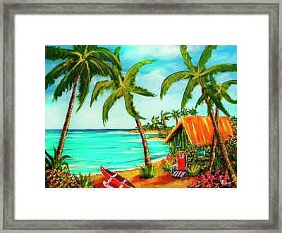 A Beautiful Day  Oahu #357 Framed Print by Donald k Hall