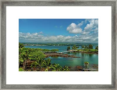 A Beautiful Day Over Hilo Bay Framed Print