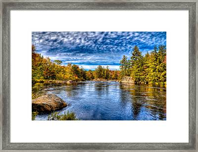 A Beautiful Fall Day On The Moose Framed Print by David Patterson