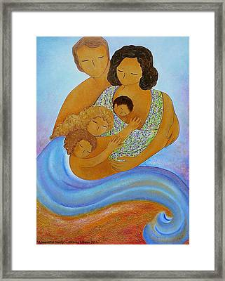 A Beautiful Family Framed Print by Gioia Albano