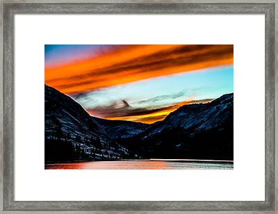 A Beautiful Jet Stream At Sunrise Framed Print by Brian Williamson