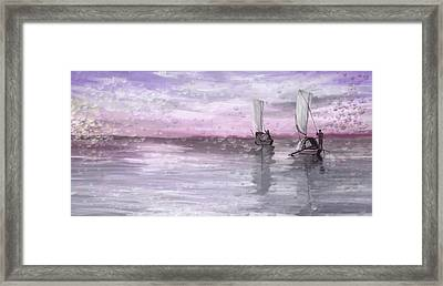 A Beautiful Morning For Fishing Framed Print by Angela A Stanton
