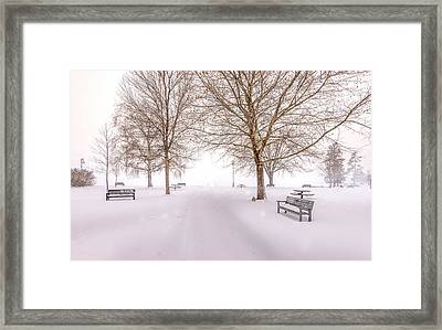 Framed Print featuring the photograph A Beautiful Winter's Morning  by John Poon