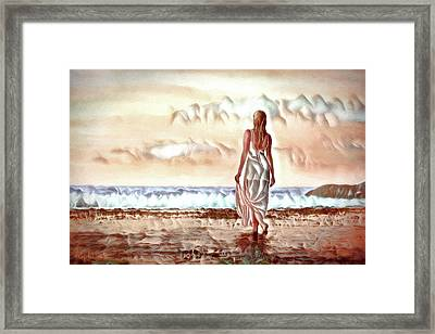 Framed Print featuring the digital art A Beautiful World by Pennie McCracken