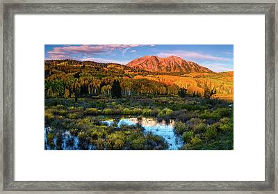 Framed Print featuring the photograph A Beckwith Morning by John De Bord