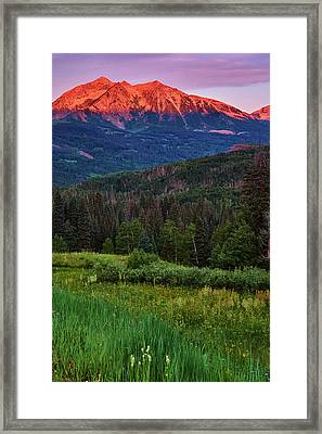 Framed Print featuring the photograph A Beckwith Sunrise by John De Bord