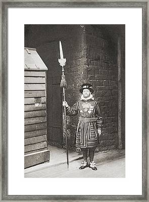 A Beefeater, Guardian Of The Tower Of Framed Print