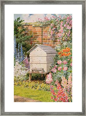 A Beehive Framed Print by Louis Fairfax Muckley