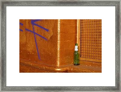 A Beer On The Side Framed Print by Jez C Self