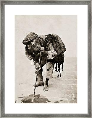 A Beggar In Tehran Framed Print by MotionAge Designs