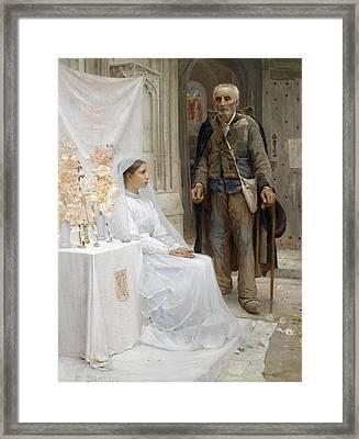 A Beggar's Alms Framed Print