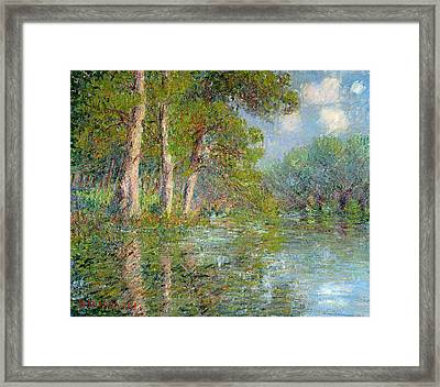 A Bend In The Eure Framed Print by Gustave Loiseau