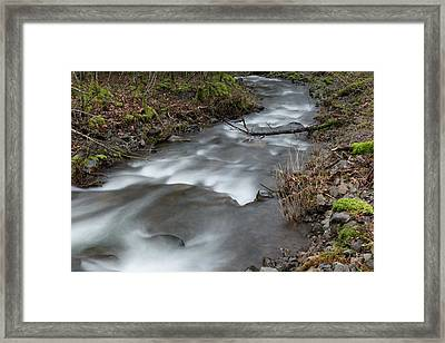 A Bend In The Flow Framed Print