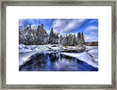 A Bend In The Moose River Framed Print by David Patterson