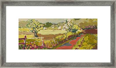A Bend In The Road Framed Print by Jennifer Lommers