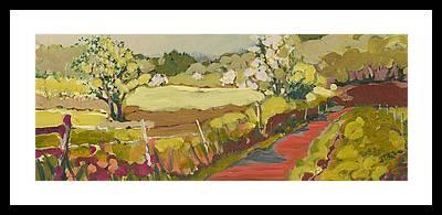Apple Orchard Framed Prints