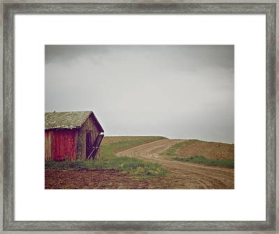 A Bend In The Road Framed Print by Odd Jeppesen