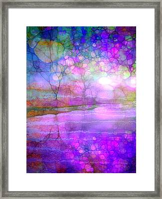 A Bewitching Purple Morning Framed Print