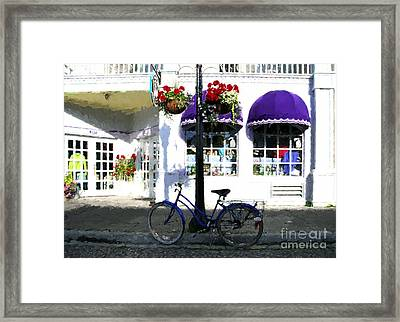 A Bicycle On Mackinac Island Framed Print by Mel Steinhauer