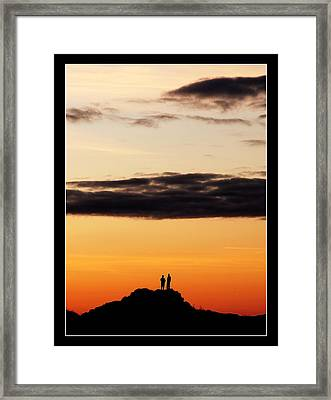 A Big Sky Framed Print by Mark Denham