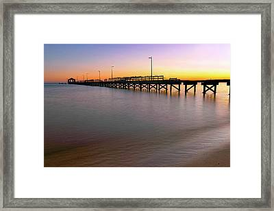 Framed Print featuring the photograph A Biloxi Pier Sunset - Mississippi - Gulf Coast by Jason Politte