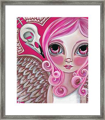 A Bird Friend Long Gone Framed Print by Jaz Higgins