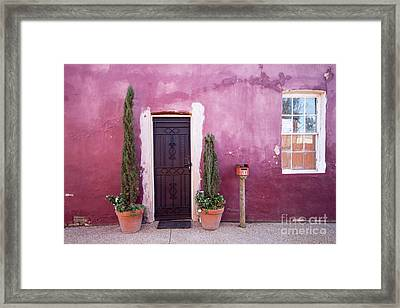 Framed Print featuring the photograph A Bit Of Brightness Down The Lane by Linda Lees