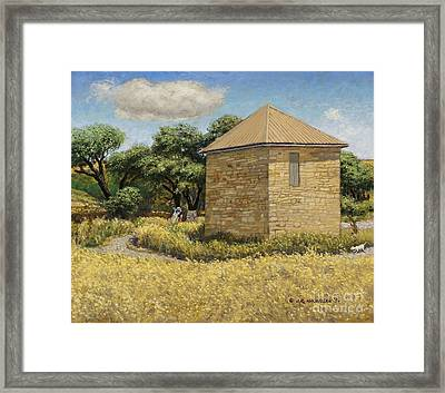 A Bit Of History Framed Print by James Robert MacMillan