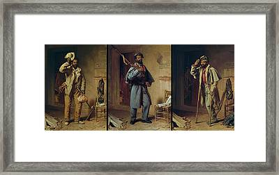 A Bit Of History - The Contraband - The Recruit - The Veteran Framed Print by Thomas Waterman Wood